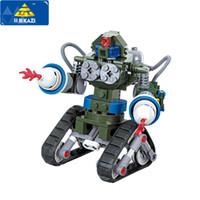 Wholesale Kazi Toys - KAZI 81004 Red Alert 3 USA X-2 Blocks Future Coming Tank Military Building Block DIY Toys Robot Tank Triangle Chariot Bricks