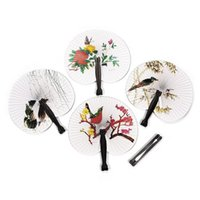 Wholesale Decoration Fan Party - Wholesale-2015 New Hioliday Sale Event Party Supplies Paper Hand Fan Wedding Decoration#ZH224