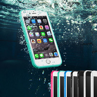 Wholesale Rubber Case Iphone Gold - TPU Rubber Waterproof Case Full Boday Cover Dust-proof Underwater Diving Cases For iPhone X 8 7 6 6S Plus 5S Samusng S7 S9 Plus