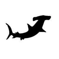 Wholesale Marines Decals - Wholesale 10pcs lot Cute Deep Sea Marine Life Freely Roam Hammerhead Shark Car Sticker for Wall Laptop Kayak Canoe Waterproof Vinyl Decal