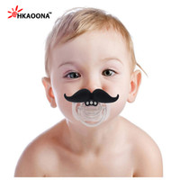 Wholesale Big Dummy - Wholesale-New Top Silicone Funny Nipple Dummy Baby Soother Joke Prank Toddler Big Beard Nipples Teether Baby Pacifier Care