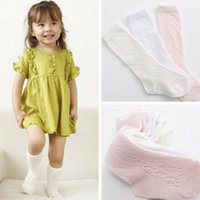Wholesale Korean Clothing For Kids - Hot Sell Korean Style Children Socks 3 Colors Pure Cotton Baby Kids Socks Knee High Long Socks For Toddler Girls Clothes Accessories Q0892