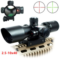 Tactical 2.5-10x40 Riflescope Green Red Dual Illuminated Rifle scope e Red Dot Laser Sight Hunting Scope
