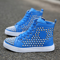 Wholesale Cheap Footwear For Men - Cheap red bottom sneakers for men Luxury black suede with Spikes fashion casual mens womens shoes ,2017 Designer leisure trainers footwear