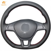 Wholesale New Leather Steering Wheel Cover - Mewant Black Genuine Leather Car Steering Wheel Cover for Volkswagen VW Golf 7 Mk7 New Polo 2014 2015 2016 2017