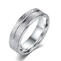Wholesale Titanium Rings For Women Cheap - Fashion Cheap Silver Gold Titanium Steel Ring For Women Men Jewelry Couples Stainless Steel White Ring R140