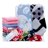 Wholesale White Washcloths - Three layers of gauze square 35 * 35(Random delivery)