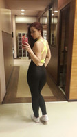 Wholesale Jumpsuit Order - Women Yoga Sets Leggings Sexy Backless One-piece Sportswear Gym Fitness Clothing Suit for Woman Running Jumpsuits LA437