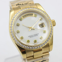 Wholesale Ladies Watch Faces - New fashion luxury women watches lady 36mm White face Stainless steel strap watch free shipping814