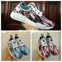 Wholesale Band Collection - Best Running shoes NMD Datamosh Pack Collection R1 Primeknit BB6364 BB6365 NMD R1 Primekint PK Tri-Color Pack Sports Shoes for Men Womens