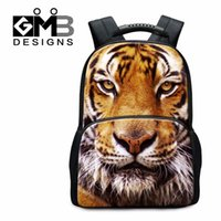 Wholesale Tiger Back Packs - Wholesale- Large Tiger Backpacks Animal Felt School Back pack for Teenagers Cool Bookbags for College Students Fashion Day Pack for Men