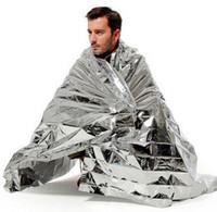 aluminio reflectante al por mayor-Equipo de campamento Aislamiento térmico Mango de supervivencia Herramienta salvavidas Oro Aluminio reflectante Impermeable Primeros auxilios Manta de emergencia Cur