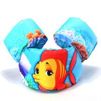 bebek yüzme yelekleri toptan satış-Çocuk mayo can yelekleri yüzdürme yelek bebek yüzer giysi güvenlik ceket satılık yüzme kol köpük lifebuoy