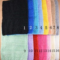 Wholesale crochet headbands tube tops - 12inch Baby Girl Elastic Chest Wrap Infant Waffle Crochet Headband Baby Rayon Tutu Tube Tops Girl Hairband 24 cmx32cm 20 color