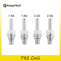 Wholesale Genuine T2 - Authentic Kangertech T3S Coil Head 1.5ohm 1.8ohm 2.2ohm 2.5 ohm Replacement Coils Head For Originsl T3S&MT3S&T2 Tank 100% Genuine 2211057