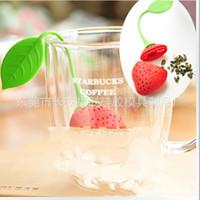 Wholesale Design Order Bag - Silica Gel Newest Design Strawberry Shape Silicone Tea Infuser Strainers Teas Bag Colorful Trial Order 1 5fr R