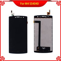Wholesale Lcd Panel 15 - 100% Tested LCD Display For M4 SS4040 S4040 4040 DJN 15-22251-44501 Touch Screen Black Color Mobile Phone LCDs Free Shipping