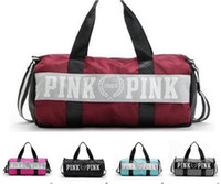Duffel Bags sport duffel bags - Pink Beach Bag VS Women Men Handbags Letter Travel Bags Pink Letter Duffle Shoulder Bags Fashion Fitness Yoga Bags Waterproof Totes