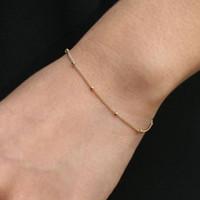 Wholesale Dainty Bracelets - Gold Bead Bracelet, Thin Minimalist Bracelet, Dot, Tiny Dainty, Satellite Bracelet, Ftacking Bracelets for Women SH015