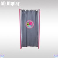 Wholesale High Quality Trade Show Booth Lightweight Tension Fabric Fitting Room With Banner Printing Portable Dressing Room Changing Room