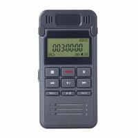 sesli kayıt telefon toptan satış-8 GB Gürültü Azaltma ses kaydedici LCD Ekran Dijital Ses Kaydedici kulaklık MP3 Çalar ile Dictaphone Telefon Kayıt perakende kutusunda