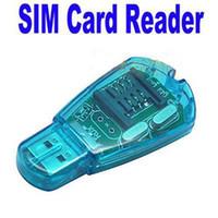 soporte de tarjeta sim wcdma al por mayor-Lector de tarjeta SIM USB Soporte GSM CDMA WCDMA Lector de tarjeta SIM Escritor Dispositivo de copia Editar directorio SMS con CD de unidad