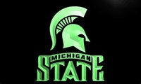 Cartoon spartan lighting - LS2101 g Michigan State Spartan LED Neon Light Signs Decor Dropshipping colors to choose