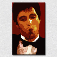 Wholesale Poster Scarface - Movie poster Scarface oil painting for bedroom wall decorative wall hangings pictures high quality canvas painting