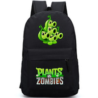 Unisex pack man games - Plants vs Zombies backpack Printing daypack Hot PVZ schoolbag Game rucksack Sport school bag Outdoor day pack