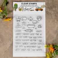 Wholesale Rubber Carts - Wholesale- Scrapbook DIY photo cards account rubber stamp clear stamp transparent stamp Baby Feeding bottle baby cart 11x13.5cm KW642623