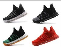 Wholesale Kevin Durant Orange Trainers Low Cut - Wholesale New Kevin Durant KD 10 X Oreo Bird of Para Zoom men basketball Shoes KD10 Elite sports sneakers low trainers size 7-12