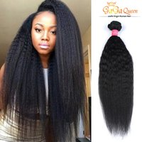 Wholesale Coarse Yaki Straight Weave - 8A Brazilian Virgin Hair Kinky Straight 3Bundles 100% Human Hair Extension Brazillian Yaki Straight Brazilian Virgin Hair Coarse Yaki