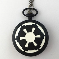 Wholesale Dress Imperial - Wholesale-Freeshipping 20pc a lot Star Wars IMPERIAL pocket watch Necklace XQDWN066