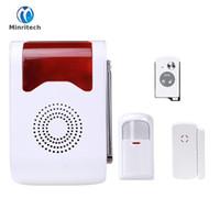 système gsm pour la maison achat en gros de-Alarme sans fil extérieure sirène son stroboscopique flash sirène d'alarme pour Wif GSM PSTN système d'alarme de sécurité à la maison