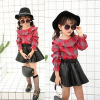 Wholesale Wholesale Faux Leather Clothing - Baby girls skirt Children Clothes Pu leather Girls Skirts Toddler Skirts baby short skirts Kids Dress 2017 autumn Girls bottoms T5083