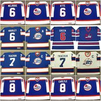 Wholesale Wha Hockey Jersey - Winnipeg Jets Jersey 6 BARRY MELROSE 1979 JIM KYTE 6 PHIL HOUSLEY TED GREEN 1975 WHA 7 KEITH TKACHUK Vintage Throwback Hockey Jerseys