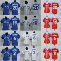 Wholesale Cheap Jay S - Women's Toronto Blue Jays jerseys Cheap Baseball Jerseys BAUTISTA#19 DONALDSON#20 PILLAR#11 MARTIN#55 STROMAN#6 TULOWITZKI#2 blue red white