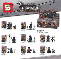 Wholesale Set Dog Toys - Sy607 City Swat Police Team Military figures Set Army soldiers with Guns Dog Kids Block Toy Compatible For Boy