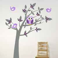 Wholesale new wallpaper tree resale online - Plant Tree Wall Sticker Decals Mural Wallpaper Children Kids Baby Room Nursery Bedroom Sticker New Year Tree Home Decoration
