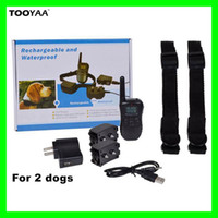 Wholesale Rechargeable Dog Training Shock Collar - 998DR 300M Rechargeable Waterproof Anti Barking Pet Dog Training Collars with LCD Dispaly 100LV 300Yard Shock Vibration Pets Training Tools