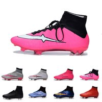 Wholesale Cr7 Cleat Box - [With Box]Mens CR7 Mercurial x EA SPORTS Superfly FG Soccer Shoes Magista Obra 2 Boys Soccer Cleats Football Boots Youth Cristiano Ronaldo