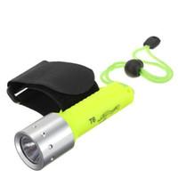 kostenlose tauch-taschenlampe großhandel-Großhandelswasserdichtes XM-L XML T6 1800LM LED Tauchens-Unterwassertaschenlampen Unterwasserlampen-Fackellicht geben Verschiffen frei