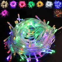 Wholesale Led Christmas Curtains For Sale - Outdoor 10M 100LEDs Christmas Hot Sale 220V 110V LED string Decoration Light for Holiday Weding Party RGB Light ePacket ship