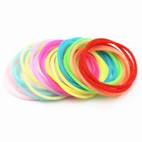 Wholesale Mixed Color Silicone Rubber Band - Mixed Color Elastic Rubber Bangles Men Women's Spiral Silicone Bracelets Wristbands Friendship Bands Gift Party Favor WA1630