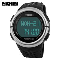 Wholesale Brand New Monitor - SKMEI Brand Watches men Heart Rate Monitor 3D Pedometer LED Digital Watch Man Waterproof Sport PU strap Quartz-watch