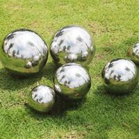 cercas ornamento venda por atacado-90mm-250mm Aço Inoxidável AISI 304 Bola Oco Espelho Polido Esfera Brilhante Para O Jardim Ao Ar Livre Da Cerca Do Jardim Da Cerca do Ornamento e Decoração