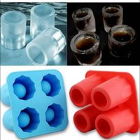 Wholesale Ice Tray Cup - Cup Ice Cube Glass Freeze Mold Maker Tray Silicone Molds Wine Glasses Maker Cocktail Cups Ice Cube Beer Cold Keeper OOA3333