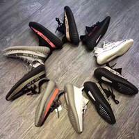 Wholesale Eur Size 47 - Big Size SPLY 350 Boost V2 US 12.5 13 EUR 47 48 Zebra Bred Black Red Copper Green Grey Orange Running Shoes