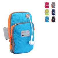 Wholesale Mobile Phone Hand Bag - New Running Jogging GYM Mobile Phone Bag Sports Wrist Bags Arm Bag Outdoor Waterproof Nylon Hand Bag For Fitness 2509043
