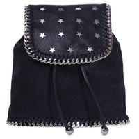 Wholesale backpack pictures - 2018 High quality plain stars chain shoulder bag st new list pvc 100% real picture women fashion backpack style